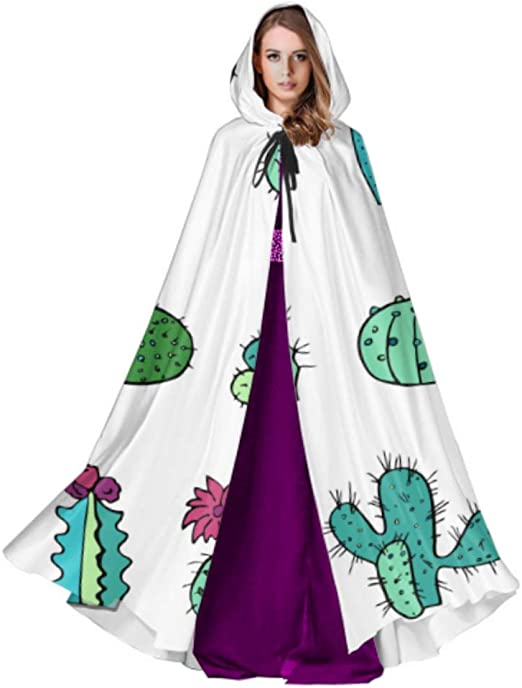 ZHANGhome Cactus Green Plants Beauty Adult Witch Cloak Cloak Cape ...