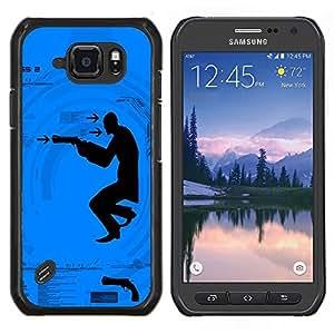 TECHCASE---Cubierta de la caja de protección para la piel dura ** Samsung Galaxy S6 Active G890A ** --Dispara arma Hombre