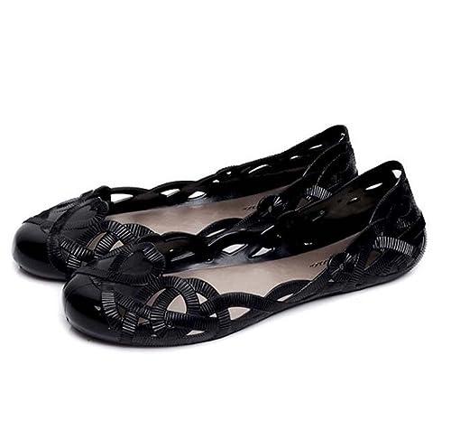 Zapatos de Jalea de Mujer Mocasines y Slip-Ons Talón Plano para Casual Negro Zapatos de Almendra Azul Oscuro PU Primavera Tamaño de Caída 36-40: Amazon.es: ...