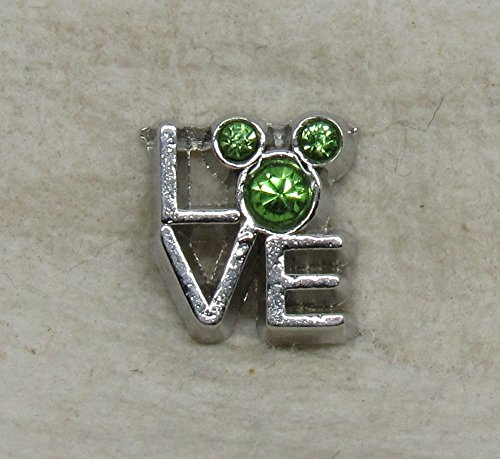 Mickey Mouse Love August Floating Charm