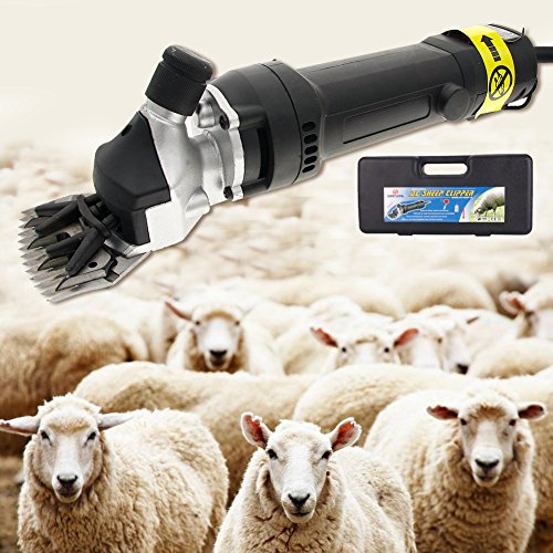 320W Electric Sheep Goat Clipper Shears Wool Shearing Livestock Sheep Goat Animal Hair Fur Shearing (Best Clippers For Shearing Angora Goats)