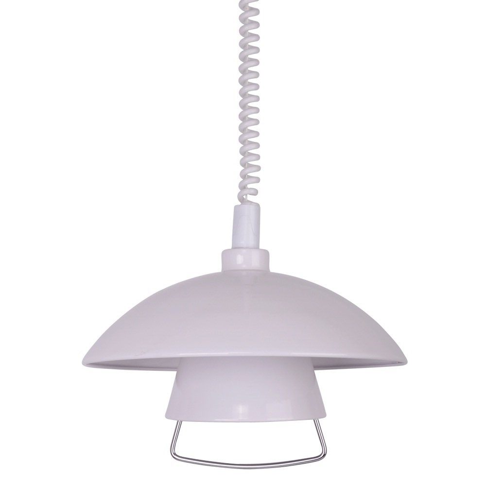 Rise and fall pendant light fittings - Modern Designer Gloss White Jurgen Rise U0026 Fall Adjustable Ceiling Pendant Light Fitting Amazon