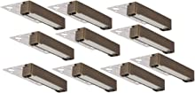 LFU 10 Pack of Agoura Brass Hardscape Recessed Paver Light. Low Voltage. 5.5 Inches Long. Antique Bronze Finished. LF5026AB. Recessed Retaining Wall Light.