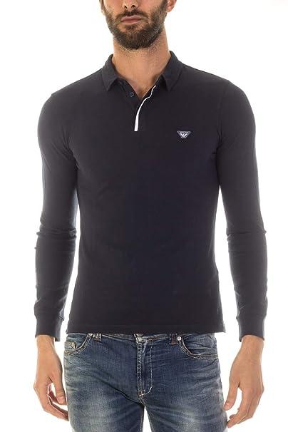 Armani Jeans Camisa de manga larga Polo XL Azul: Amazon.es: Ropa y ...