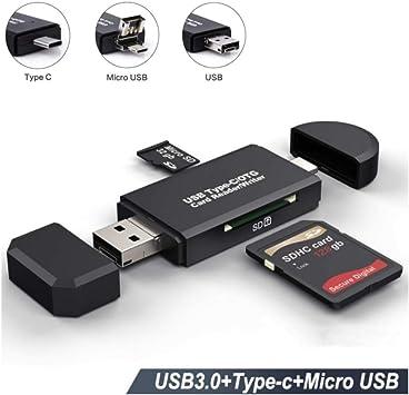 Micro USB SD Lector de tarjetas, portátil memoria adaptador de ...