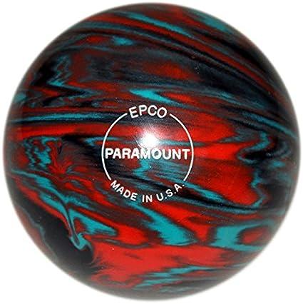 Orange /& Black EPCO Duckpin Bowling Ball- Marbleized Teal 4 Balls