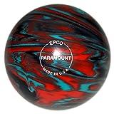 EPCO Paramount Marbleized Candlepin Bowling Ball - Teal, Orange & Black - 4 Ball Set …