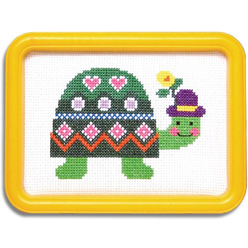 Easy Street Smiling Turtle Counted Cross-Stitch Kit ()