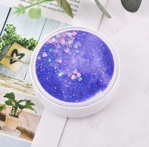 Contact Lens Travel Case, Cute Fashion Contact Lens Travel Kit,Luxury Bling Stars Liquid Quicksand Contact Lens Cases Eye Care Set (Purple) from TROPICALTREE