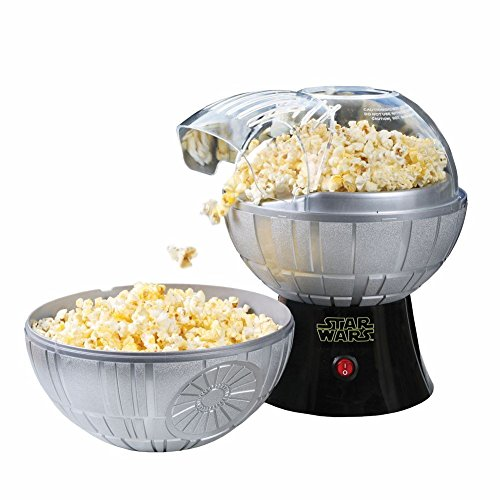 Price comparison product image Star Wars Death Star Hot Air Popcorn Maker And One 2 Lb Bag Of Empire Dark Side Popcorn