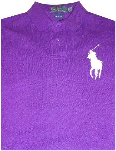 Polo By Ralph Lauren Wimbledon Classic Big Pony Short Sleeve Shirt Purple, Large (Ralph Lauren Wimbledon)