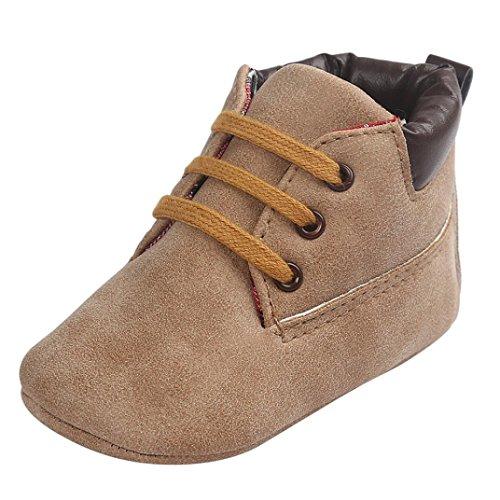 Weiche Monate Boots Mädchen Junge Leder Khaki Kinder Schuhe Sohle 18 Baby Zolimx Kleinkind 12 6wq7T50