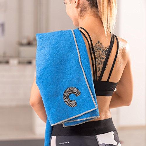 Luxury Sweat Grip Mat Towel: Microfiber Yoga Towel, Non-Slip, Sweat Absorbent, Improves
