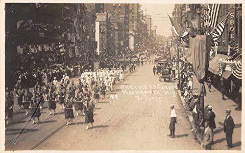 Rochester New York Shriners Parade Patriotic Real Photo Postcard JJ658991