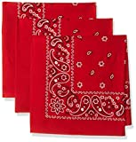 Levi's Men's 3 Piece Bandana Set, Red, One Size