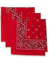 Levi\'s Men\'s Printed Bandana Set,Red,One Size