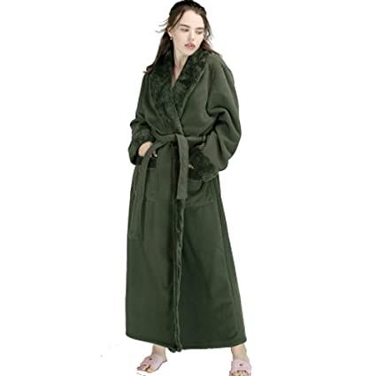 Albornoz Nan Liang Pareja de Lujo 100% algodón Toalla Batas Batas Envolver Pijamas Gran tamaño