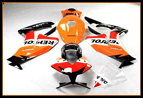 - Protek ABS Plastic Injection Mold Full Fairings Set Bodywork With Heat Shield Windscreen for 2012 2013 2014 2015 2016 Honda CBR1000RR Repsol Edition