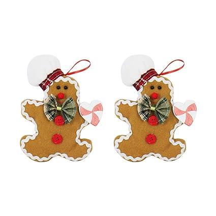 Imagenes De Galletas De Navidad Animadas.Nanih Home 2 Piezas De Navidad Colgante Lindo De Dibujos