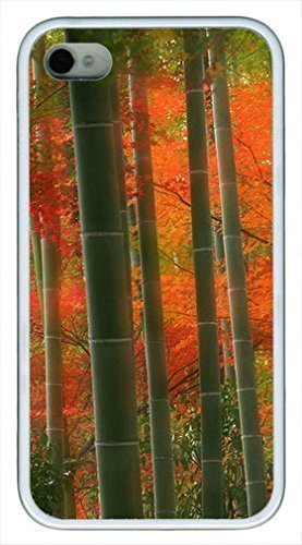 Bamboo Forest Custom Rubber(TPU) white Case for iphone 4 case or iphone 4s case by Cases & Mouse Pads 220mm*180mm*3mm