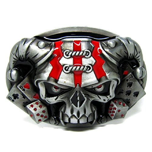 Dice Belt Buckle (Unique Cool Poker Playing Cards Casino Dice Clown Skull Skeleton Belt Buckle)