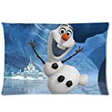 Home Decor Custom Disney Frozen Olaf Zippered Pillow Case Pillowcase Cushion Twin Sides 20x30 Inch