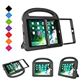 BMOUO Case for iPad Mini 1 2 3 with Built-in Screen Protector, Shockproof Lightweight Hard Cover Handle Stand Kids Case for Apple iPad Mini 1st 2nd 3rd Generation, Black