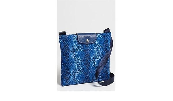 b259f8079cec Longchamp Le Pliage Python Cross Body Indigo Blue Bag Leather Handbag Purse  NEW  Handbags  Amazon.com