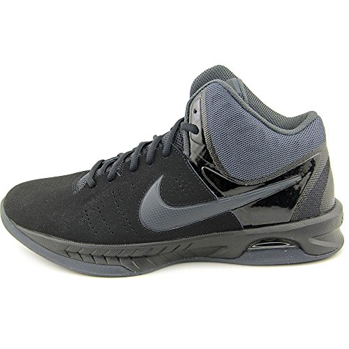 Nike Mens Air Visi Pro Vi Nbk Black/Anthracite Ankle-High Nubuck Basketball Shoe - 11M