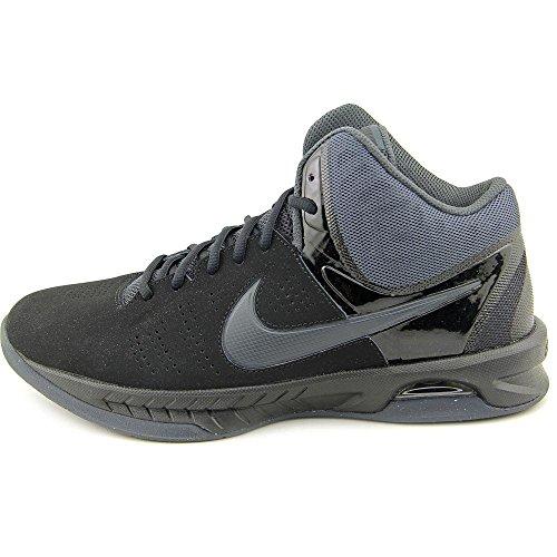 Nike Mens Air Visi Pro Vi Nbk Black/Anthracite Ankle-High Nubuck Basketball Shoe - 11M