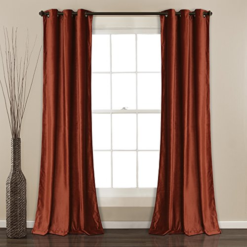 - Lush Decor Prima Velvet Curtains Solid Color Room Darkening Window Panel Set for Living, Dining, Bedroom (Pair), 84