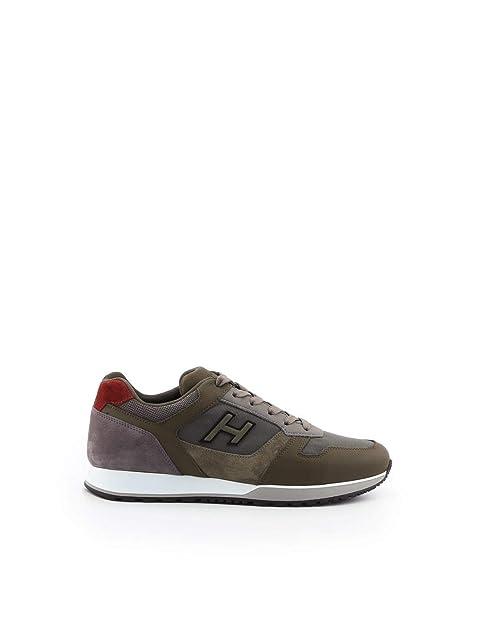Hogan Hombre HXM3210Y860JBV374O Verde Cuero Zapatillas: Amazon.es: Zapatos y complementos