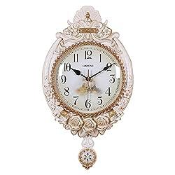 large European style Elephant wall clock Creative Quartz clock decoration Wall clock bedroom Mute Pocket watch Crafts With pendulum