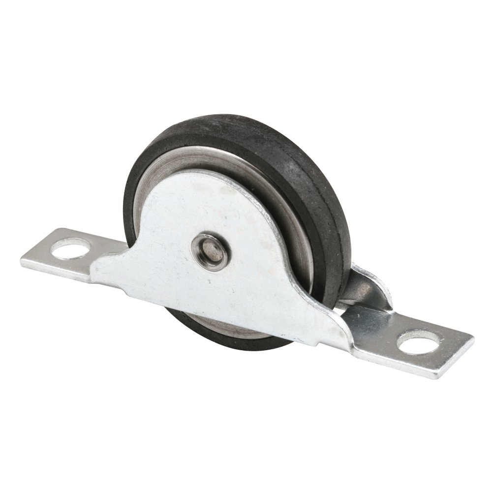 Prime-Line Products N 6688 Closet Door Roller with 1-3/8-Inch Flat Neoprene Ball Bearing Wheel,(Pack of 2)