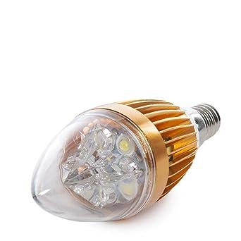 Greenice | Bombilla de LEDs Vela E14 5W 12VAC/Dc 400Lm 30.000H | Blanco