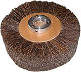 Supreme 8'' x 2'' Brown Horse Hair Brush Polish Wheel
