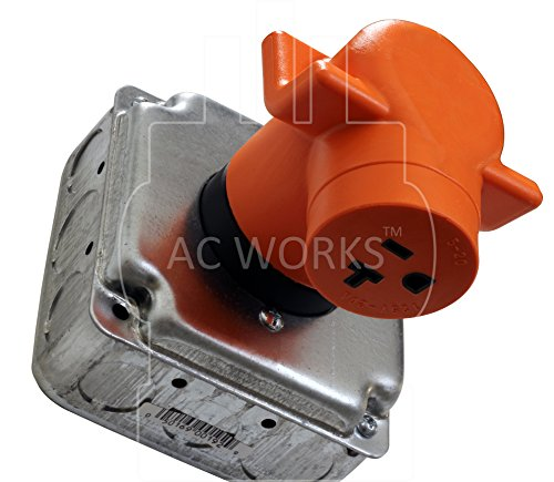 AC WORKS [AD1430520] Dryer Outlet Adapter NEMA 14-30P 30Amp Dryer Outlet to Household 15/20Amp 125Volt T Blade Female Connector by AC WORKS (Image #4)