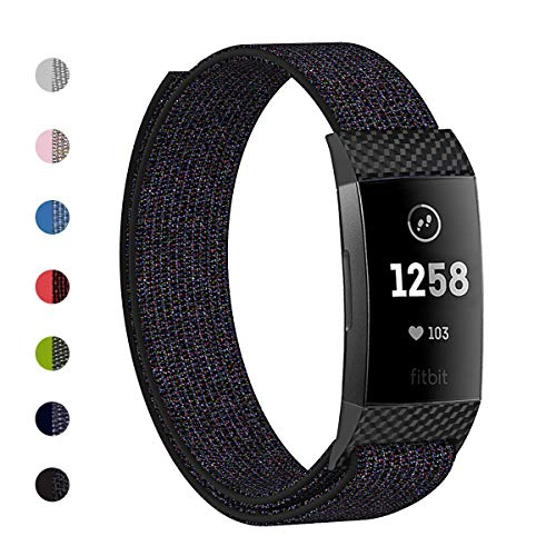 Wekin Replacement Bands Compatible for Charge 3 Fitness Tracker, Lightweight Breathable Fashion Adjustable Accessory Wristband Strap for Charge 3 SE, Perfect for Wrist 5.3-8.7inches Women Men