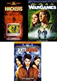 Computer Action Movie Cyber Slams... War Games & Hackers Pirates + Antitrust 3 DVD Triple Feature Science 101 Pack