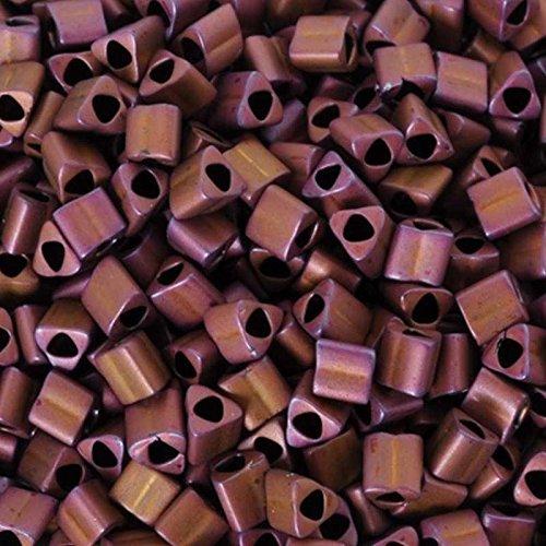 Seed Beads-11/0 Triangle-703 Matte Color Mauve Mocha-Toho-7 Grams
