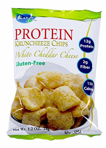 Kay's Naturals Protein Kruncheeze Chips, White Cheddar, Gluten-Free, 1.2 Ounce (Pack of - Cheddar Fat Reduced