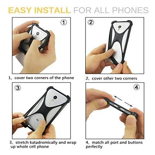 Lankashi Orange Stand Ring Holder Soft Silicone Phone Case Cover for Unimax  UMX U683CL Ans Ul40 UL50 L50 u452tl U683CL U504TL U673c / Orbic Wonder