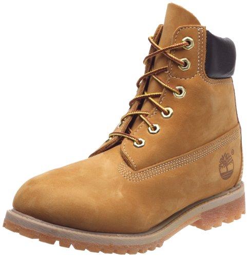 Timberland 6Premium Boot–W, zapatos altos Mujer Blanc cassé - Wheat Nubuck