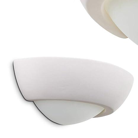 Ceramic Wall light White Modern Wall Lamp Design Paintable
