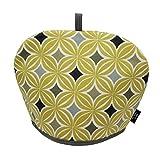 McAlister Laila Designer Decor Tea Cozy Kettle Cover   Ochre Yellow 100% Cotton   Modern Scandinavian Minimalist Accent