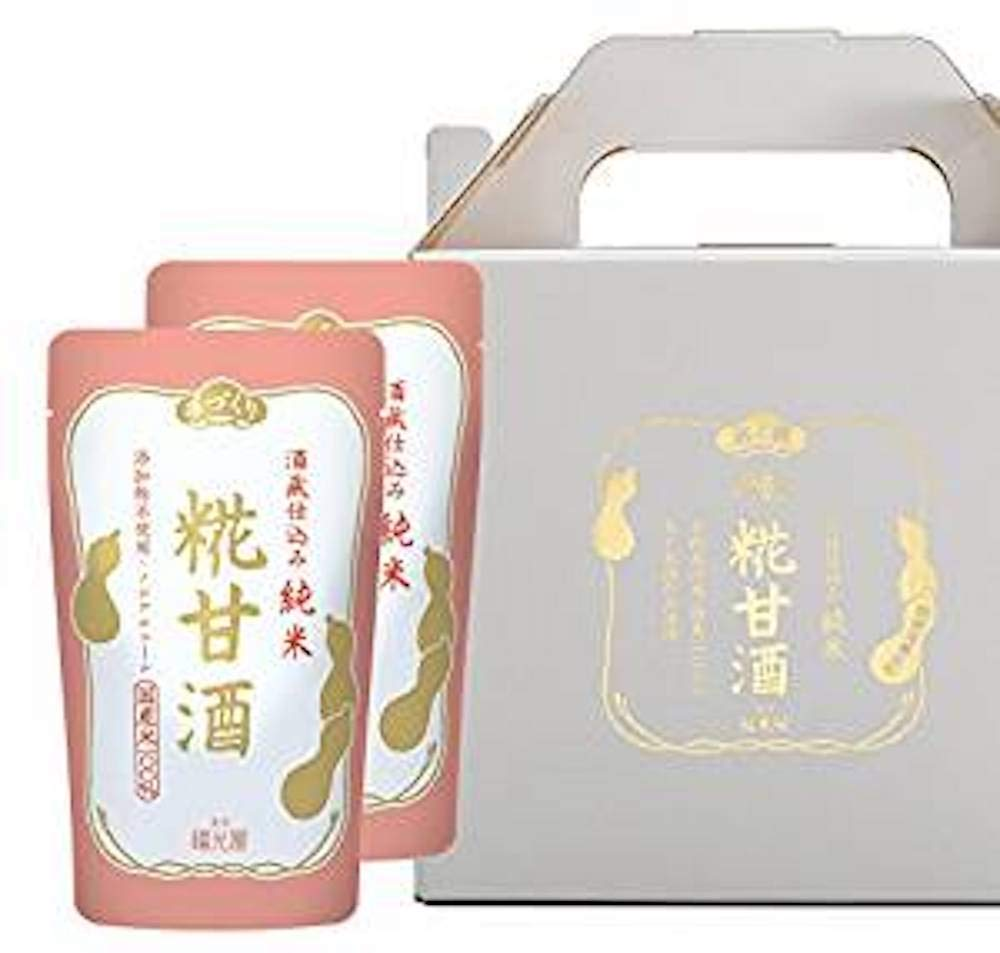 Fukumitsuya brewery charged pure rice Koji sweet sake Non-alcoholic gift-boxed 150g x 10bags [Japan Import]