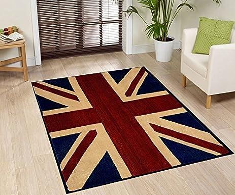 Large Traditional British Flag (UK Flag Union Jack) Style Carpet  Traditional Oriental Area Rug