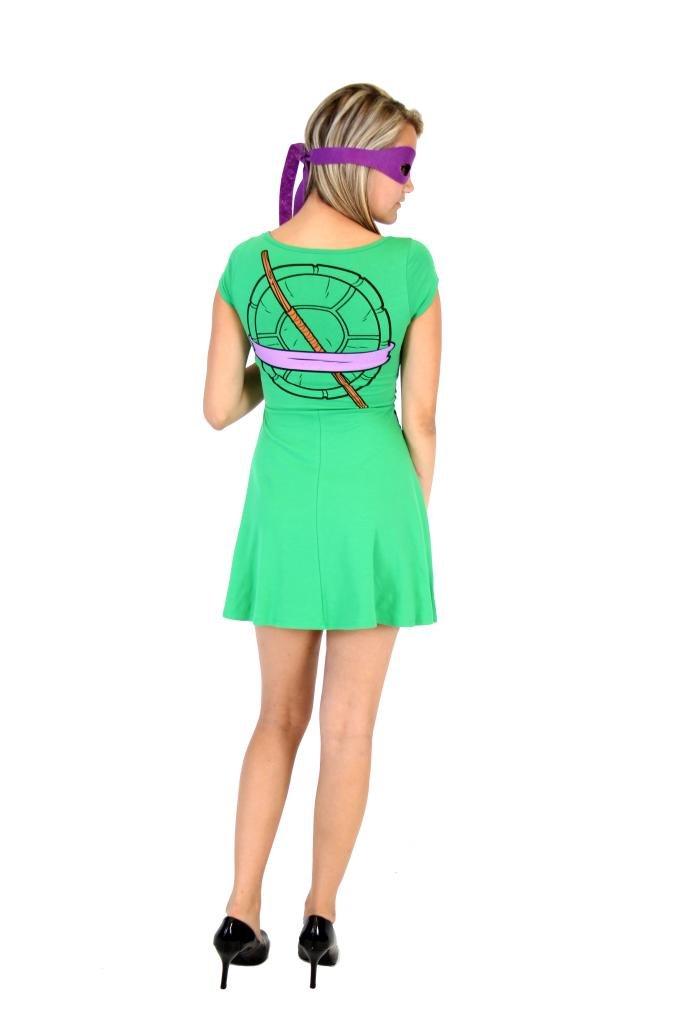 Teenage Mutant Ninja Turtles Donatello Costume Skater Dress (Juniors Medium) by Mighty Fine (Image #2)