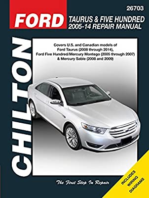 ford taurus & five hundred 2005-14 repair manual: covers u.s. and canadian  models of ford taurus (2008 through 2014), ford five hundred/mercury ...  sable (2008 & 2009) (chilton automotive)  binge
