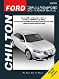 Ford Taurus & Five Hundred 2005-14 Repair Manual: Covers U.S. and Canadian models of Ford Taurus (2008 through 2014), Ford Five Hundred/Mercury ... Sable (2008 & 2009) (Chilton Automotive)